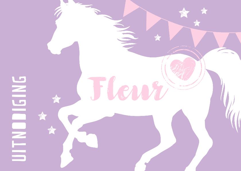 Kinderfeestjes - Uitnodiging met lief paardje