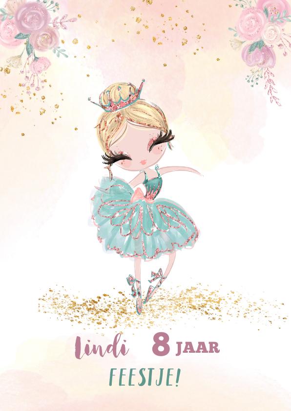 Kinderfeestjes - Uitnodiging met prinses balletmeisje