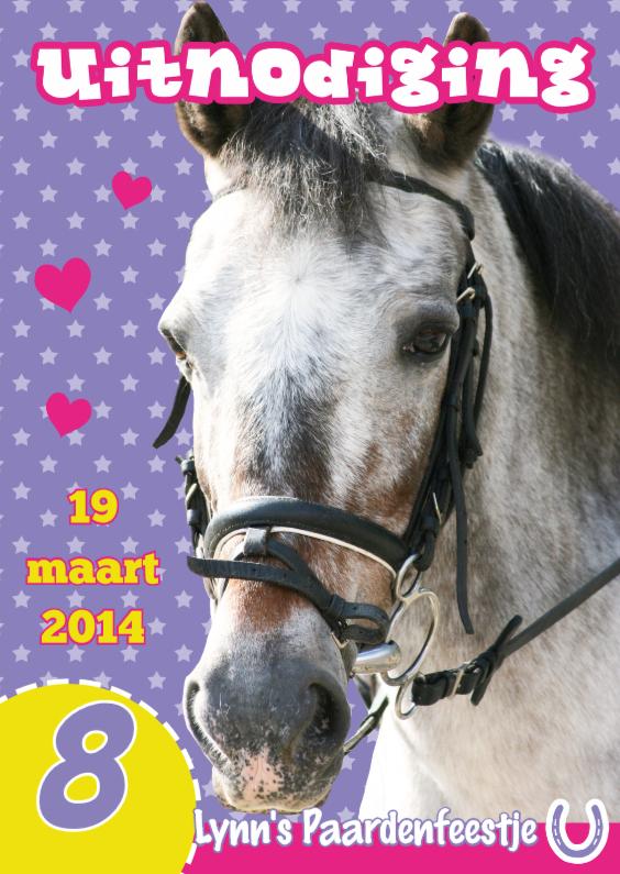 Kinderfeestjes - Uitnodiging Paardenfeestje