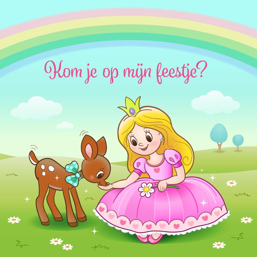 Kinderfeestjes - Uitnodiging prinses- TW