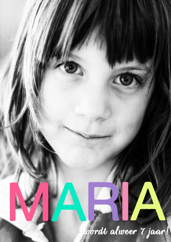 Kinderfeestjes - Uitnodiging ster foto Maria