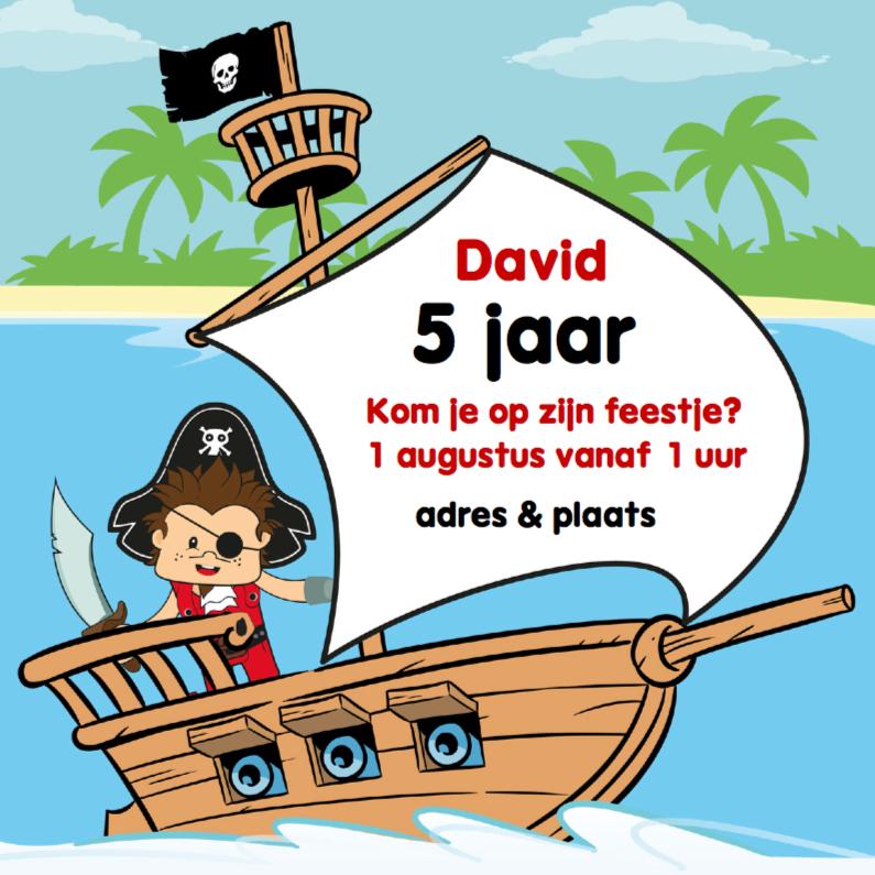 Uitnodiging Verjaardag Feestje Piraat G Kaartje2go