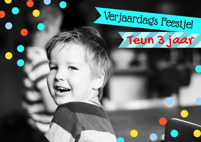 Kinderfeestjes - Uitnodiging verjaardag jongen