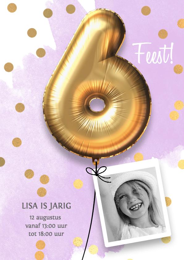 Kinderfeestjes - Uitnodiging verjaardag meisje 6 jaar