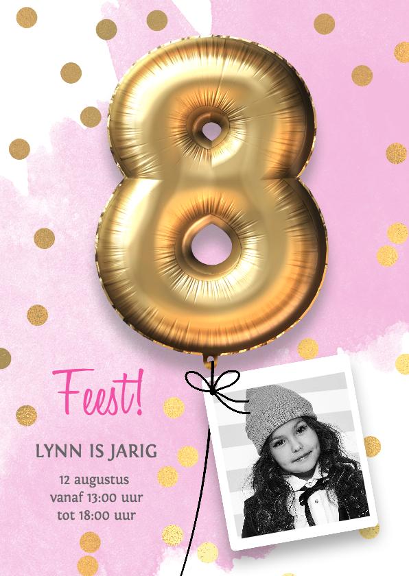 verjaardag meisje 8 jaar Uitnodiging verjaardag meisje 8 jaar | Kaartje2go verjaardag meisje 8 jaar