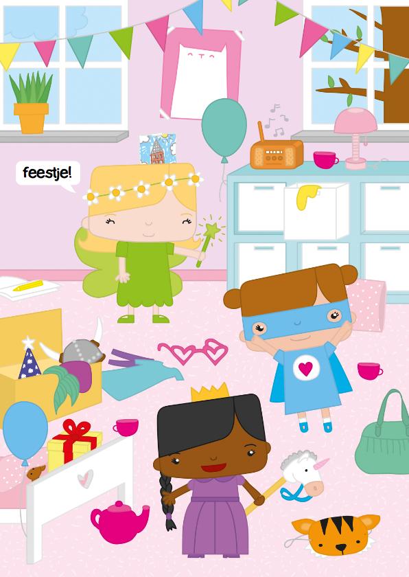 Kinderfeestjes - Uitnodiging Verkleedfeestje