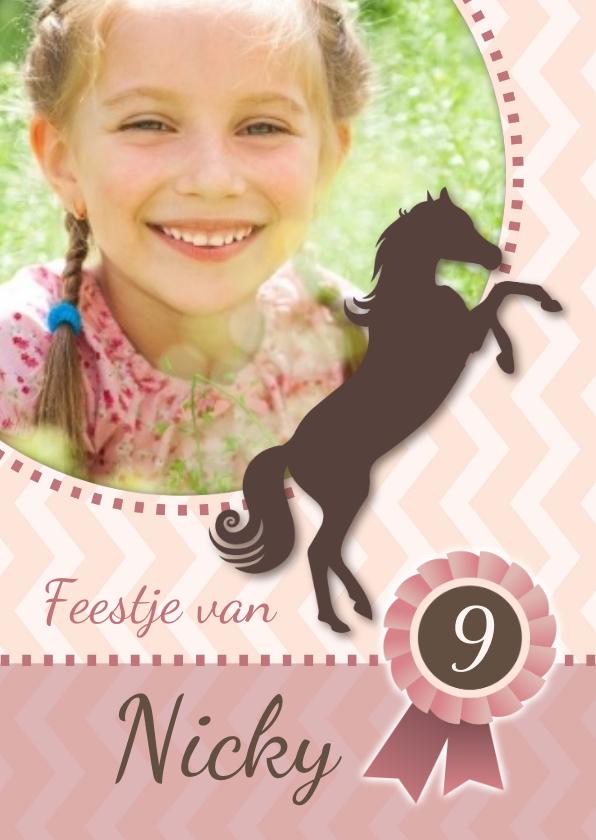 Kinderfeestjes - Uitnodiging voor een paardenfeestje eigen foto
