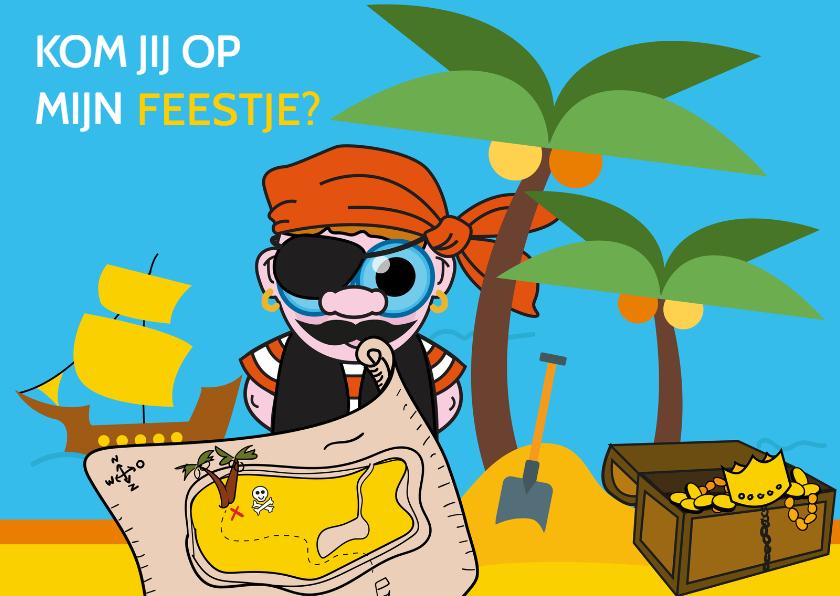 Kinderfeestjes - Uitnodiging voor piratenfeestje