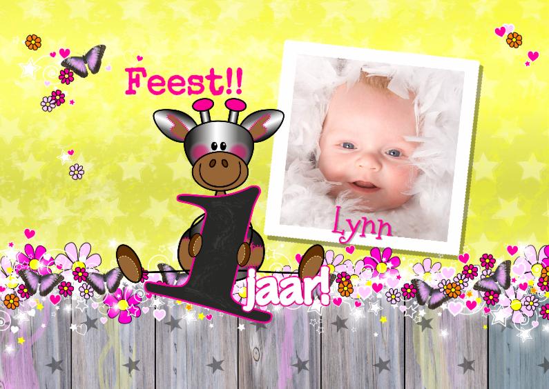 Kinderfeestjes - Verjaardag meisje FOTO giraffe L