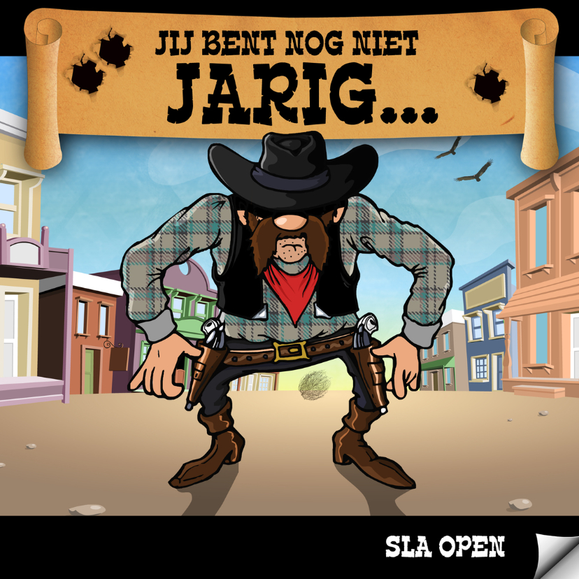 Kinderfeestjes - Verrassende uitnodiging met maffe cowboy