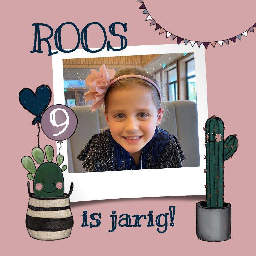 Kinderfeestjes - Vrolijke uitnodiging verjaardagsfeestje met cactussen