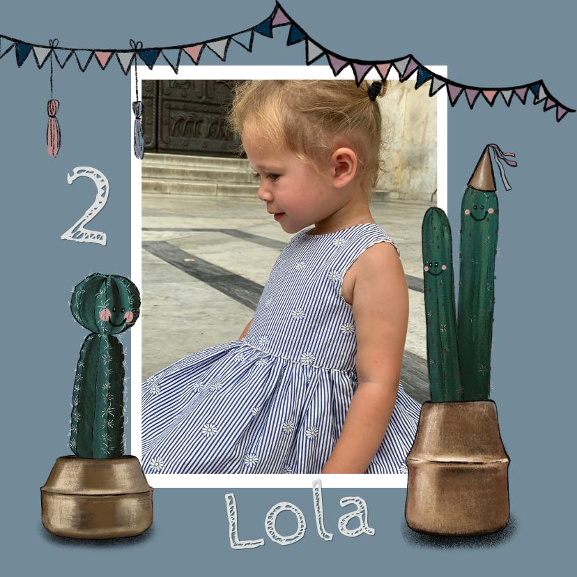 Kinderfeestjes - Vrolijke uitnodiging voor een feestje met cactussen