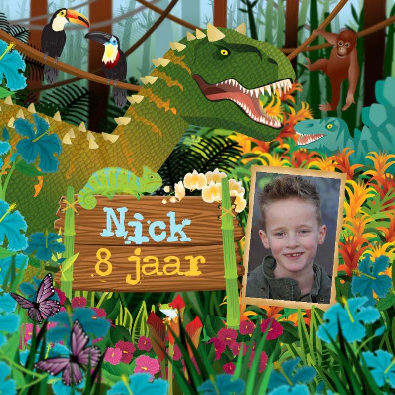 Kinderfeestjes - YVON dinosaurus dino jongenskaart dieren