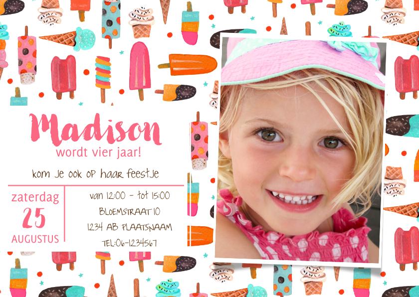 Kinderfeestjes - Zomer ijsjes feest verjaardag