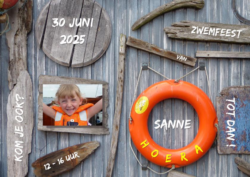 Kinderfeestjes - Zwemfeest - drijfhout