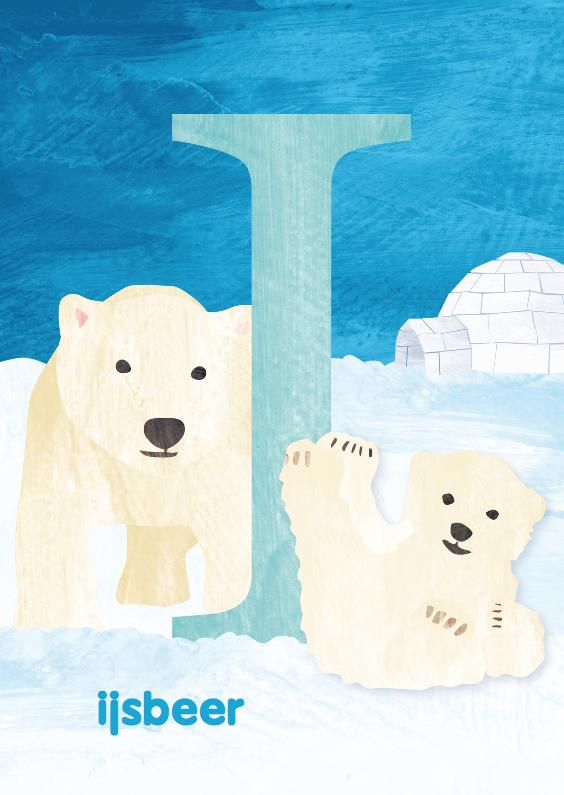 Kinderkaarten - I van ijsbeer