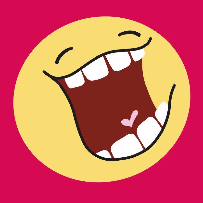 Kinderkaarten - Kinderkaart blije smiley