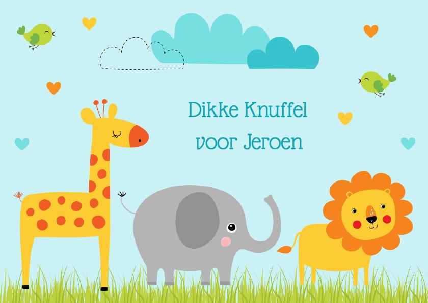 Kinderkaarten - Kinderkaart dieren