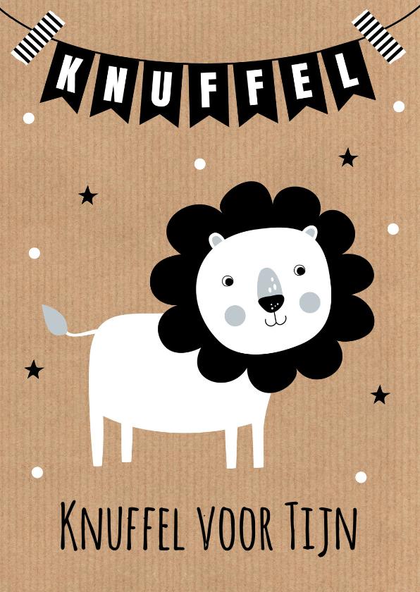 Kinderkaarten - Kinderkaart leeuw slinger kraft