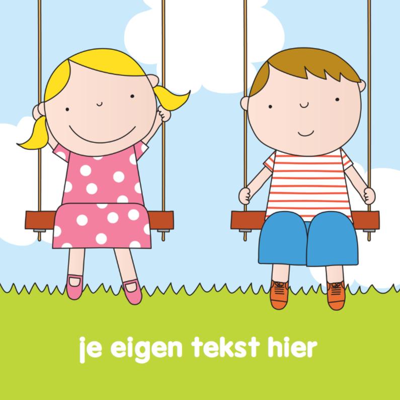 Kinderkaarten - Kinderkaart Schommel