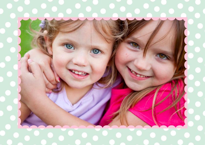 Kinderkaarten - Kinderkaart Vriendinnen Eigen Foto
