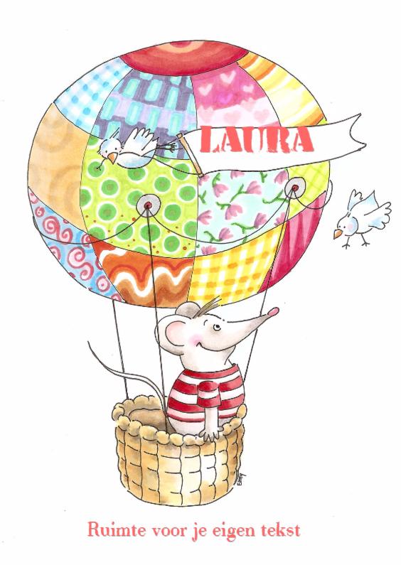 Kinderkaarten - Muis in luchtballon