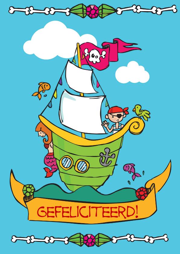 Kinderkaarten - Piratenkaartje
