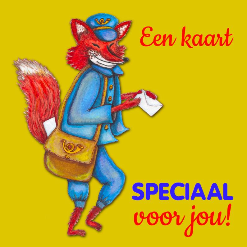 Kinderkaarten - Postbode vos