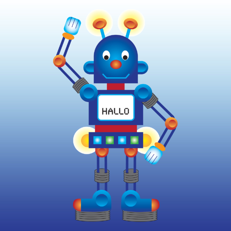 Kinderkaarten - Robot groet je