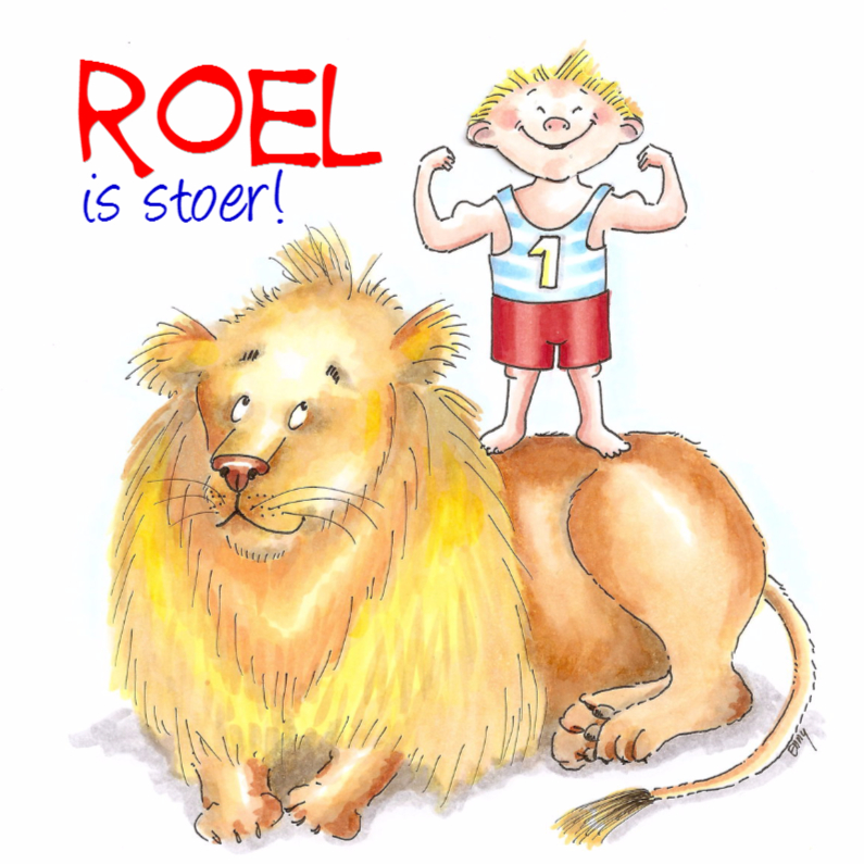 Kinderkaarten - Roel is stoer