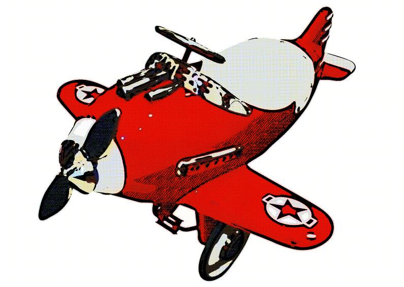 Kinderkaarten - Vliegtuigje speelgoed - OT
