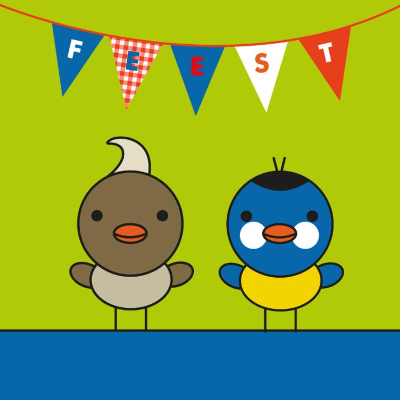 Kinderkaarten - Vogeltjesfeest