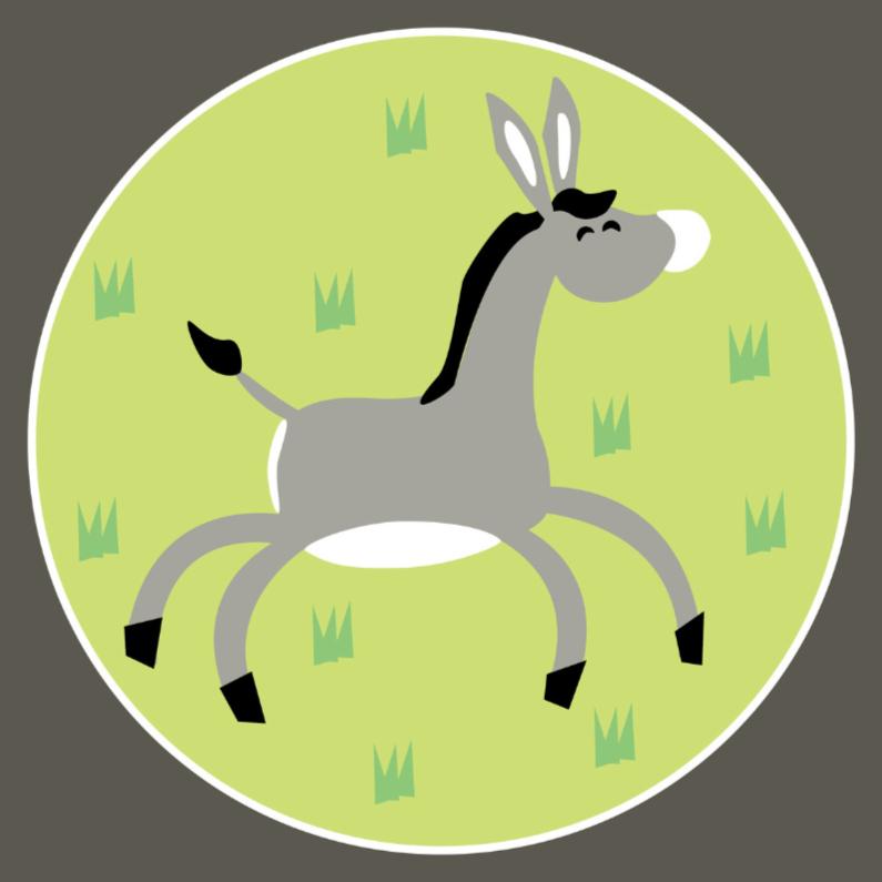 Kinderkaarten - Vrolijke ezel