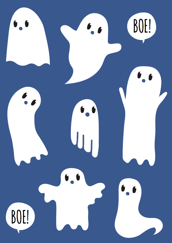 Kinderkaarten - Zomaar Spookjes
