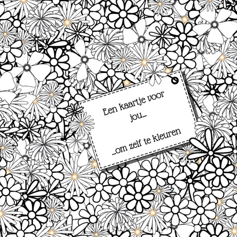 Kleurplaten Van Mooie Bloemen.Bloemen Kleurplaat