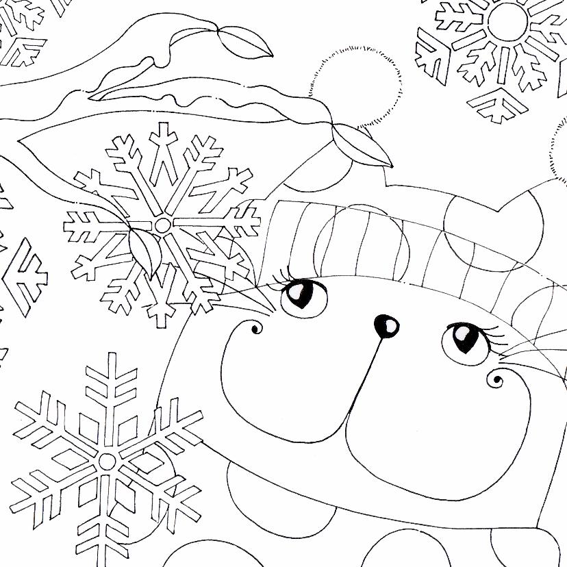kleurplaatkaart in de winter sk kaartje2go