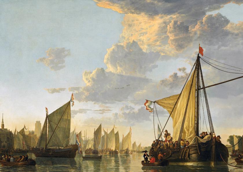 Kunstkaarten - Albert Cuyp. De Maas bij Dordrecht
