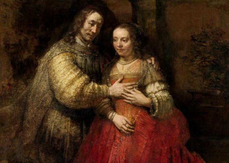 Kunstkaarten - De Joodse bruid - Rembrandt