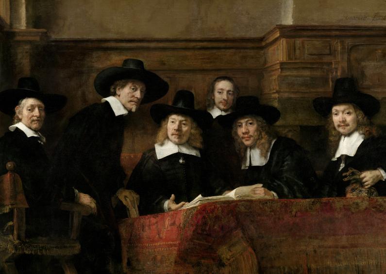Kunstkaarten - De Staalmeesters - Rembrandt