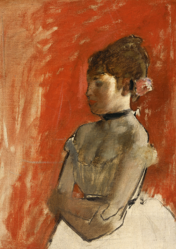 Kunstkaarten - Edgar Degas. Balletdanseres met gekruisde armen
