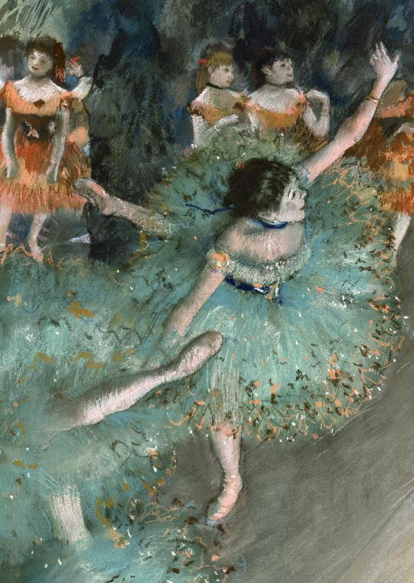 Kunstkaarten - Edgar Degas. Danseres in het groen
