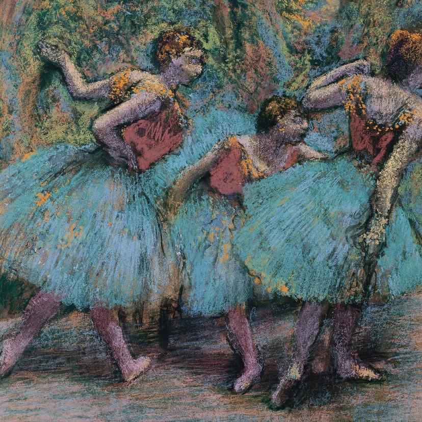 Kunstkaarten - Edgar Degas. Danseressen met blauwe tutu