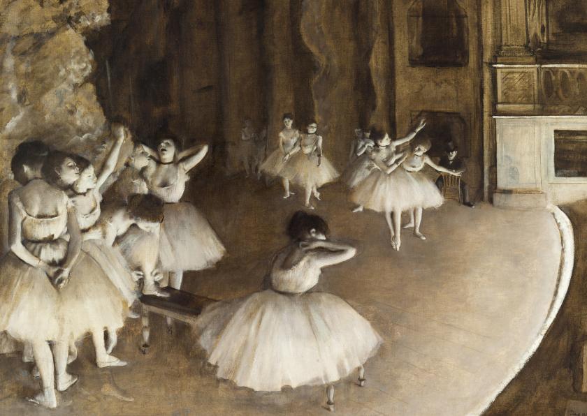 Kunstkaarten - Edgar Degas, De balletvoorstelling