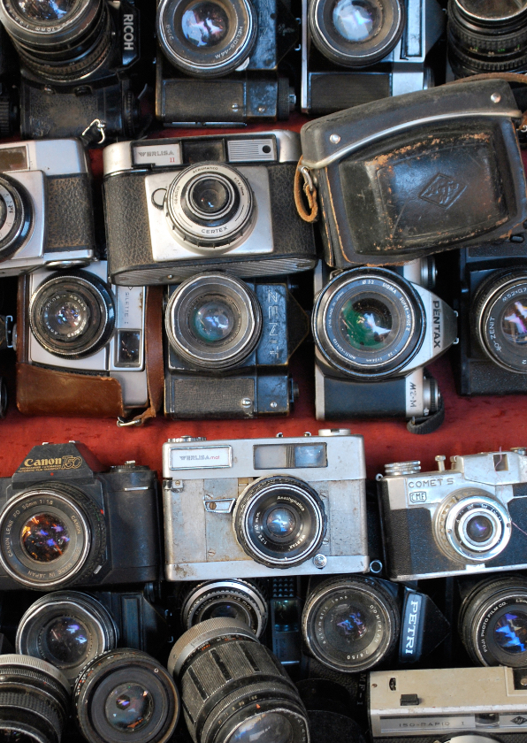 Kunstkaarten - Fotokaart oude fototoestellen