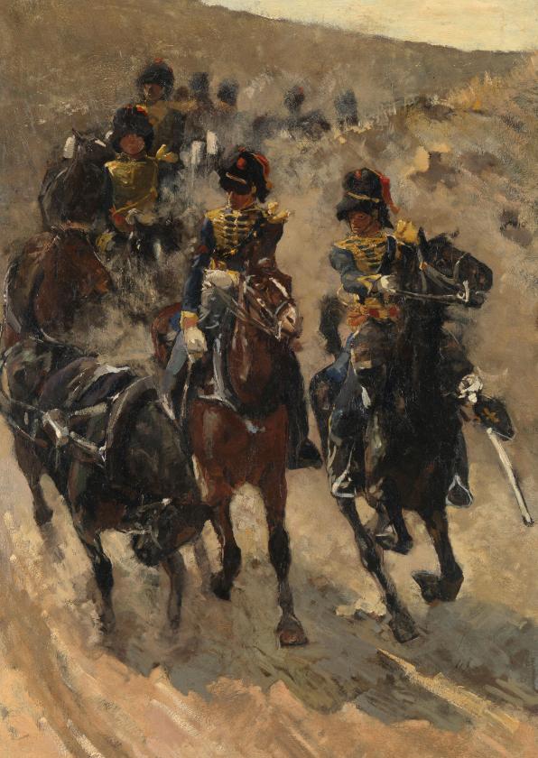 Kunstkaarten - George Breitner. Ruiters