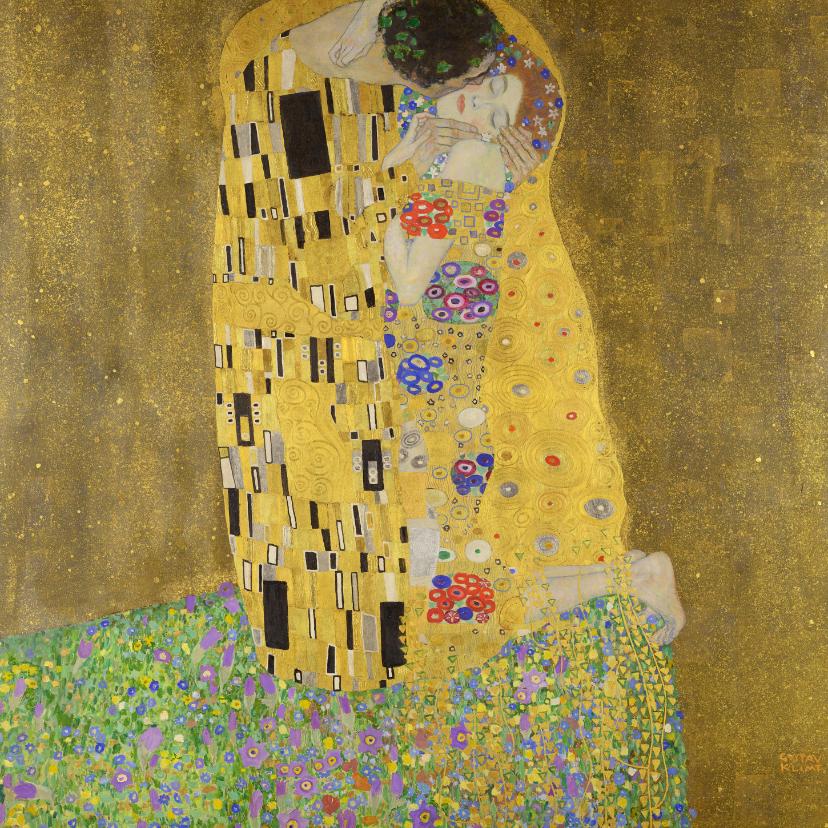 Kunstkaarten - Gustav Klimt. De kus