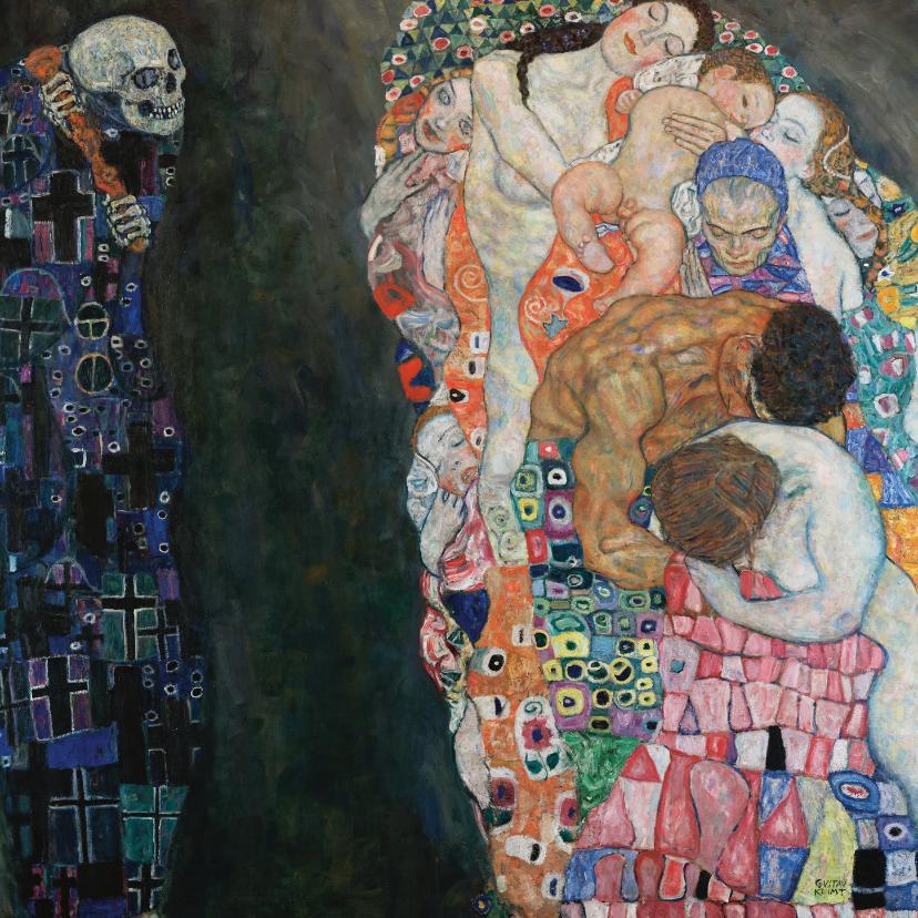 Kunstkaarten - Gustav Klimt. Dood en Leven