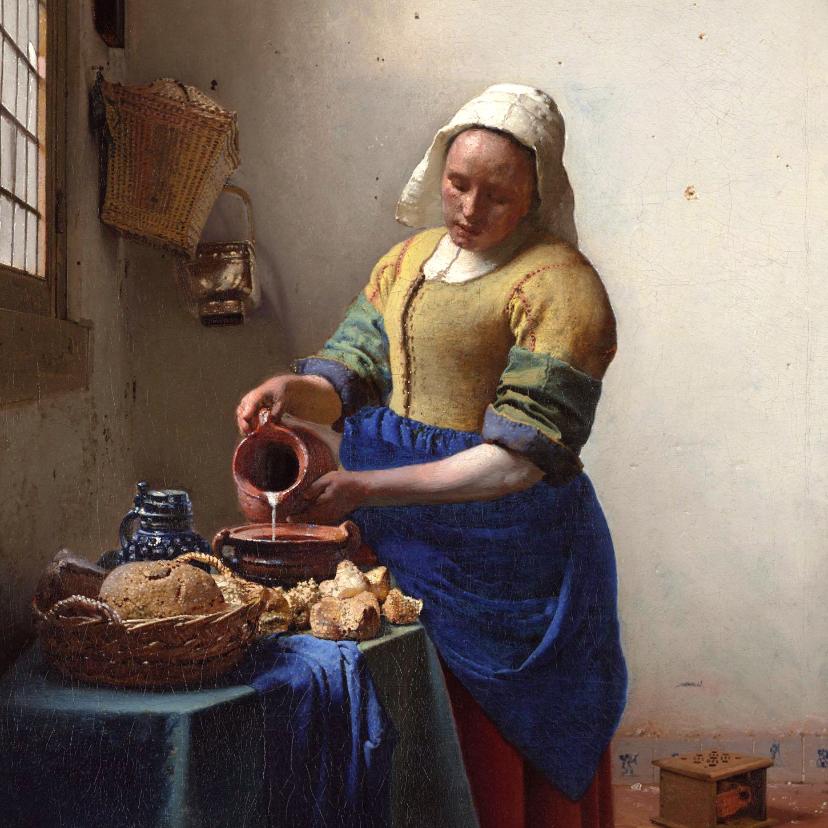 Kunstkaarten - Johannes Vermeer. Het melkmeisje