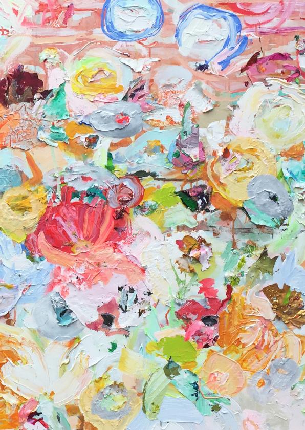 Kunstkaarten - Kunst bloemen paletstukken rh