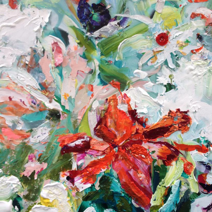 Kunstkaarten - Kunst bloemen paletstukken vk